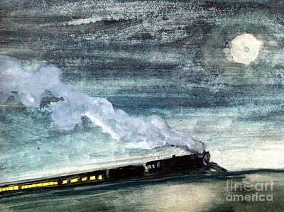 Night Train Print by Sandra Stone