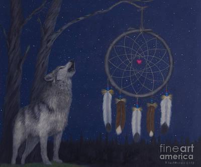 Dreamcatcher Painting - Night by Veikko Suikkanen