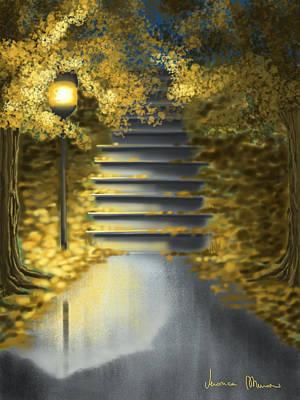 Digital Painting - Night by Veronica Minozzi