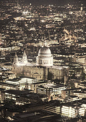 St Pauls Cathedral Photograph - Night View Over St Pauls by Jasna Buncic