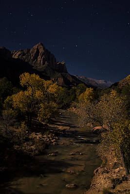 Zion National Park Photograph - Night Watchman by Andrew Soundarajan