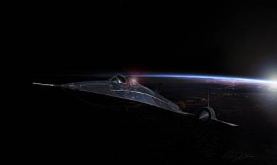 Kelly Digital Art - Night Whisper Sr-71 by Peter Chilelli