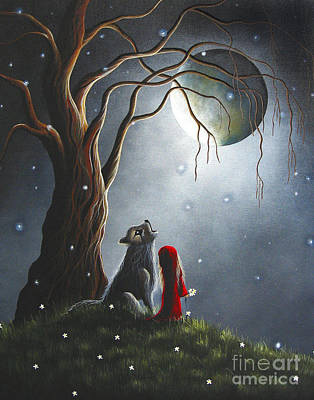 Lowbrow Painting - Little Red Riding Hood Art Prints by Shawna Erback