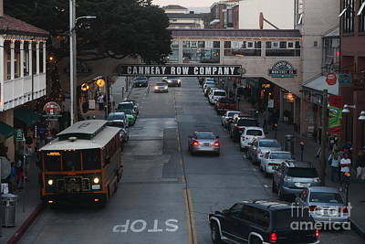 Nightfall Over Monterey Cannery Row California 5d25143 Print by Wingsdomain Art and Photography