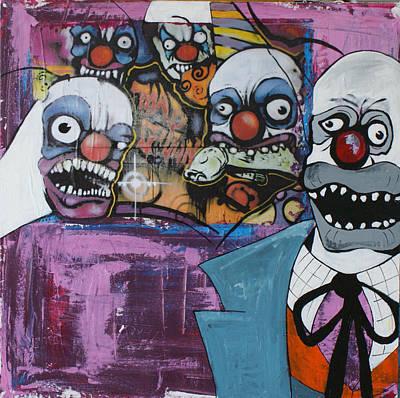 Nightmare Of The Clown Print by Sanne Rosenmay