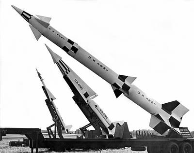 Zeus Photograph - Nike Air Defense Missiles by Underwood Archives