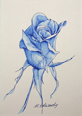 Thinking Of You Drawing - Niki's Rose by Marna Edwards Flavell