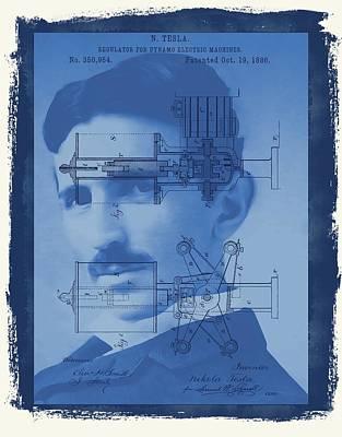 Company Mixed Media - Nikola Tesla by Dan Sproul
