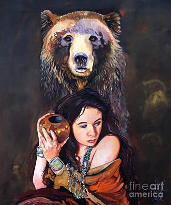 Nine Stars Woman - Bear Medicine Print by J W Baker