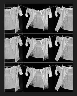 Nine White Shirts Print by Susan Stone