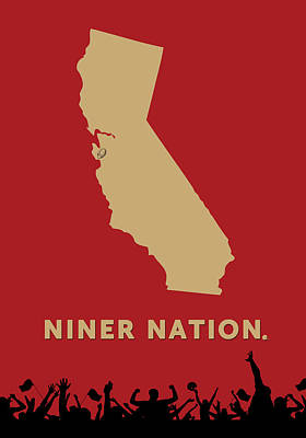 Niner Nation Print by Nancy Ingersoll