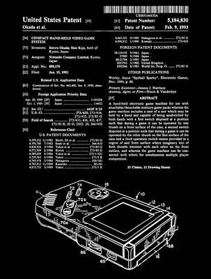 Nintendo Gameboy Print by Dan Sproul