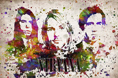Nirvana In Color Print by Aged Pixel