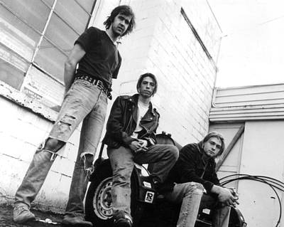 Cobain Photograph - Nirvana Outside  by Retro Images Archive