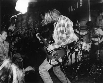 Grunge Photograph - Nirvana Playing In Front Of Crowd by Retro Images Archive