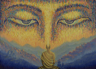 Tibetan Buddhism Painting - Nirvana by Vrindavan Das