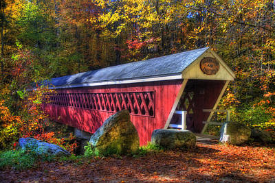 Country Scenes Photograph - Nissitissit Bridge Brookline Nh by Joann Vitali