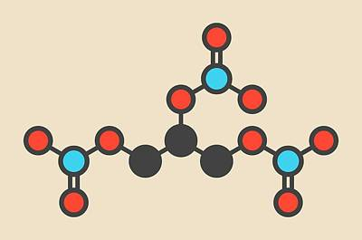 Tnt Photograph - Nitroglycerin Molecule by Molekuul