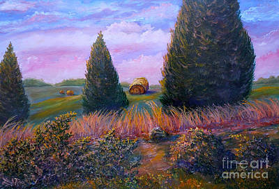 Landscape Painting - Nixon's Early Morning View On Old Rapidan Road by Lee Nixon