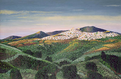 Hill Town Photograph - No. 127, 1992 Oil On Canvas by Trevor Neal