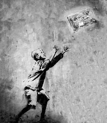 Urban Art Photograph - No Ball Games  by A Rey