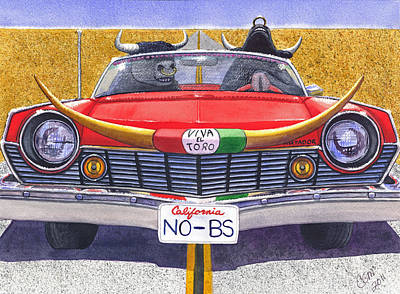 No B.s. Print by Catherine G McElroy