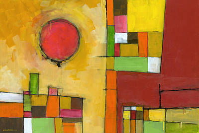 Abstraction Painting - No Coincidence by Douglas Simonson