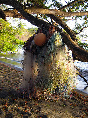 Netting Photograph - No Fishing Today Ometepe Island Nicaragua by Kurt Van Wagner