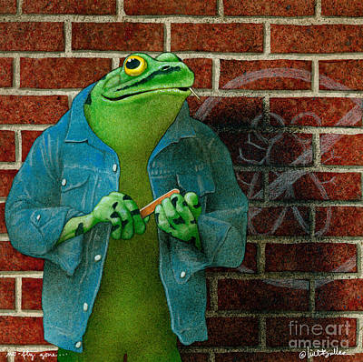 Frog Painting - No Fly Zone... by Will Bullas