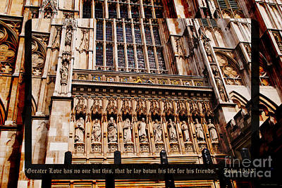 Westminster Abbey Digital Art - No Greater Love by MaryJane Armstrong