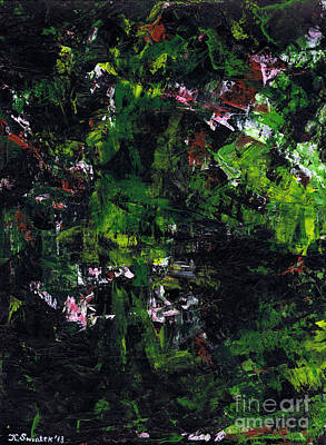 Nature Abstracts Painting - No Leaf Clover - Left  by Kamil Swiatek