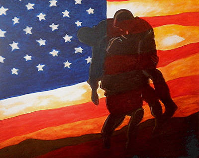 U.s. Army Painting - No One Gets Left Behind by Al  Molina