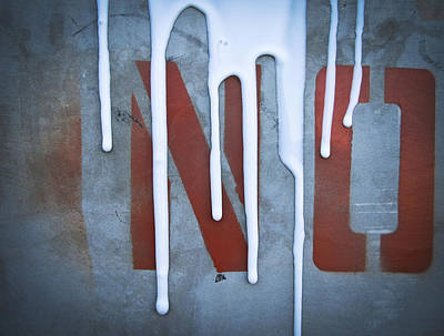 Drippy Photograph - No by Owen Summers