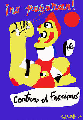 Political Digital Art - No Pasaran by Paul Sutcliffe
