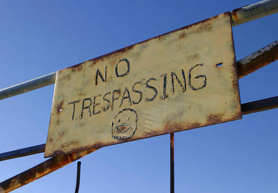 No Trespassing Happily Print by Scott Campbell
