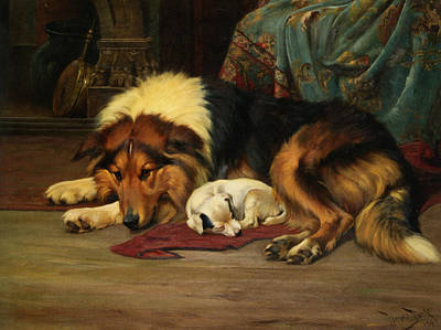 No Walk Today Print by Wright Barker