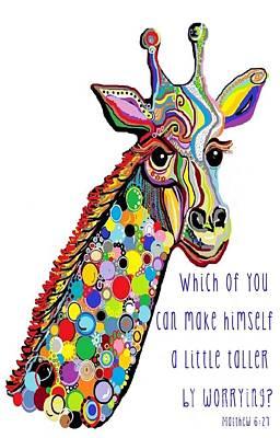 Giraffe Mixed Media - No Worries by Eloise Schneider
