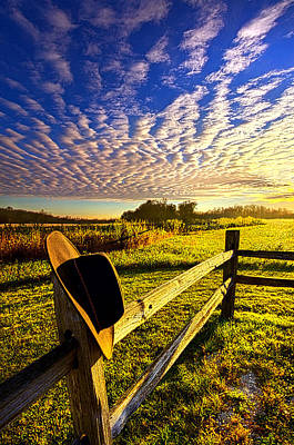 Bluesky Photograph - No Worries by Phil Koch