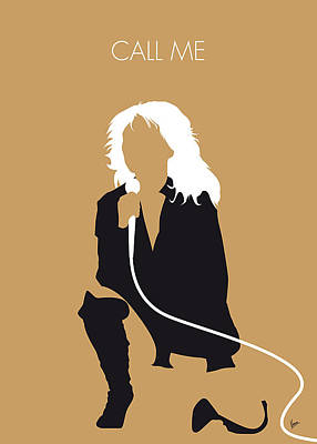New Artist Digital Art - No030 My Blondie Minimal Music Poster by Chungkong Art