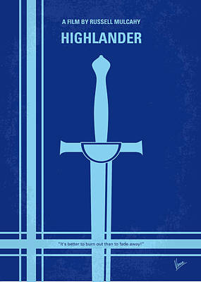 No034 My Highlander Minimal Movie Poster.jpg Print by Chungkong Art