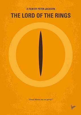 Earth Digital Art - No039 My Lord Of The Rings Minimal Movie Poster by Chungkong Art