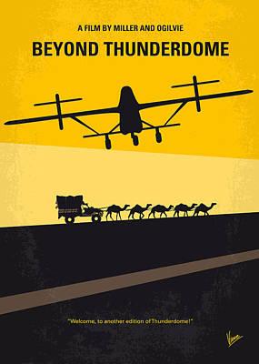 No051 My Mad Max 3 Beyond Thunderdome Minimal Movie Poster Print by Chungkong Art