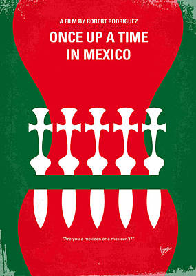 No058 My Once Upon A Time In Mexico Minimal Movie Poster Print by Chungkong Art