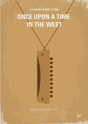 Harmonica Digital Art - No059 My Once Upon A Time In The West Minimal Movie Poster by Chungkong Art