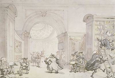 No.0613 The West Room And The Dome Room Print by Thomas Rowlandson