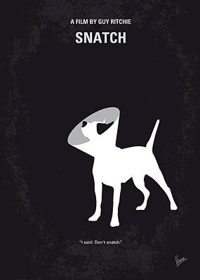 Boxer Digital Art - No079 My Snatch Minimal Movie Poster by Chungkong Art