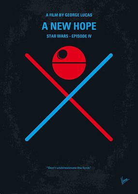 No080 My Star Wars Iv Movie Poster Print by Chungkong Art
