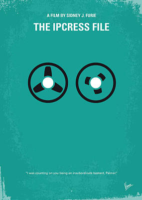 No092 My The Ipcress File Minimal Movie Poster Print by Chungkong Art