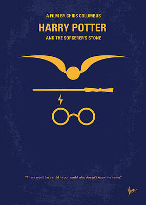 No101 My Harry Potter Minimal Movie Poster Print by Chungkong Art