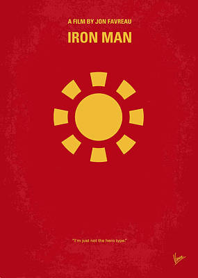 Stark Digital Art - No113 My Iron Man Minimal Movie Poster by Chungkong Art
